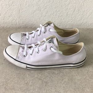 Women Converse All Star Light Purple shoes 10